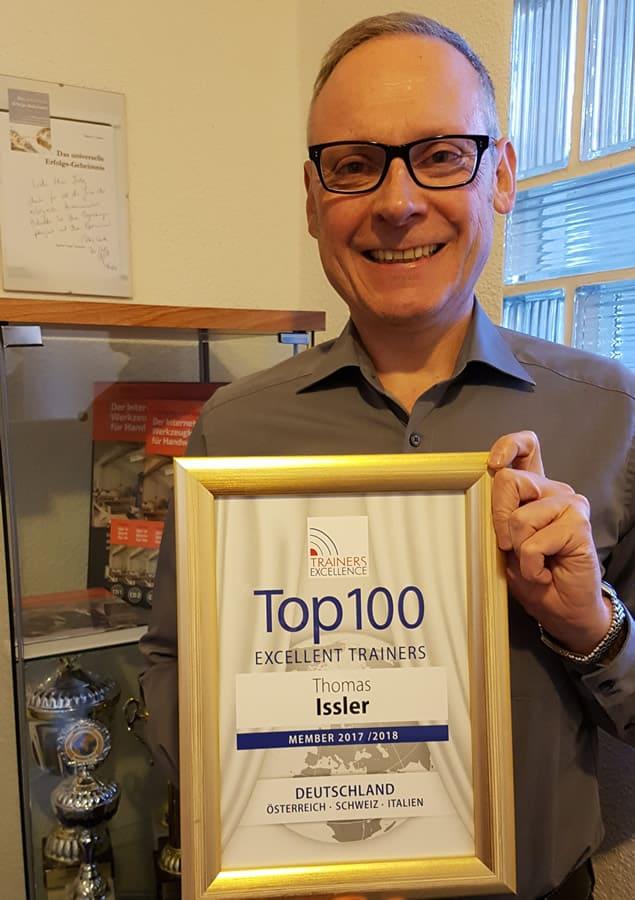 Thomas Issler ist wieder bei Top 100 Trainern gelistet