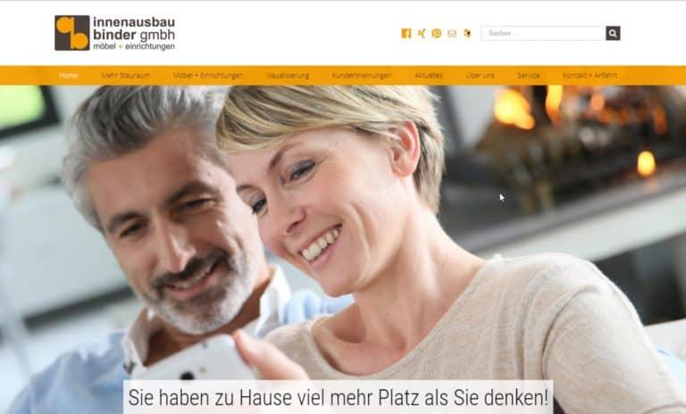Innenausbau Binder geht mit neuer Internet-Erfolgsstrategie online