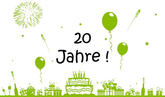 Wir feiern unser 20-jähriges Firmenjubiläum!