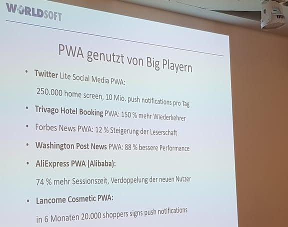Worldsoft jetzt mit Progressive Web App (PWA) Funktionalität