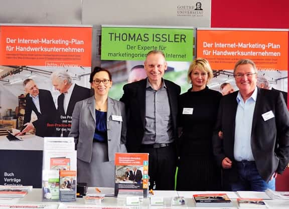 Thomas Issler, Michaela Herrmann, Margit Wellenreuther und Gerd Ziegler beim Internet-Marketing-Tag im Handwerk