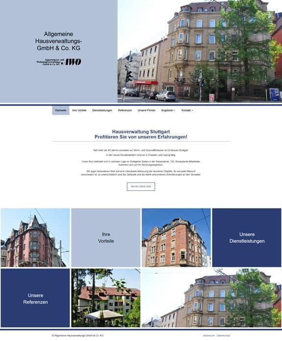 Relaunch der Allgemeinen Hausverwaltung (AHV) in Stuttgart