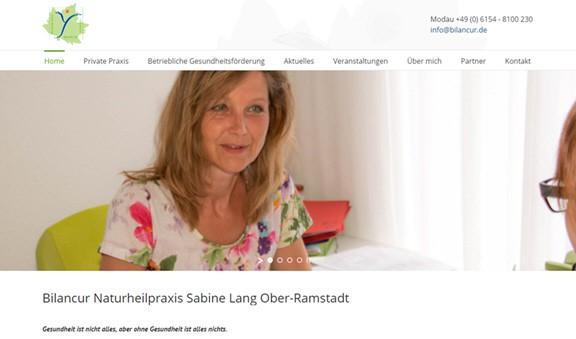 Ohne Gesundheit ist alles nichts – Ein neues Outfit für die Naturheilpraxis Bilancur von Sabine Lang