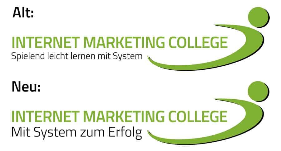 Mit System zum Erfolg – das neue Internet Marketing College Logo