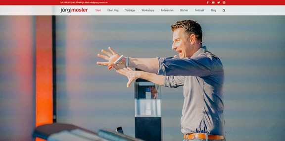Grosse Freude und grosse Herausforderung – die neue Website von Jörg Mosler, dem Nr. 1 Redner im Handwerk