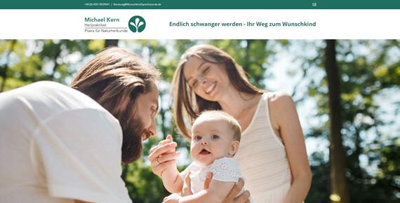 Landingpage der Hoffnung – Heilpraktiker Kern hilft Paaren den Kinderwunsch zu erfüllen